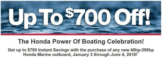 Honda Marine - Up to $700 Off!